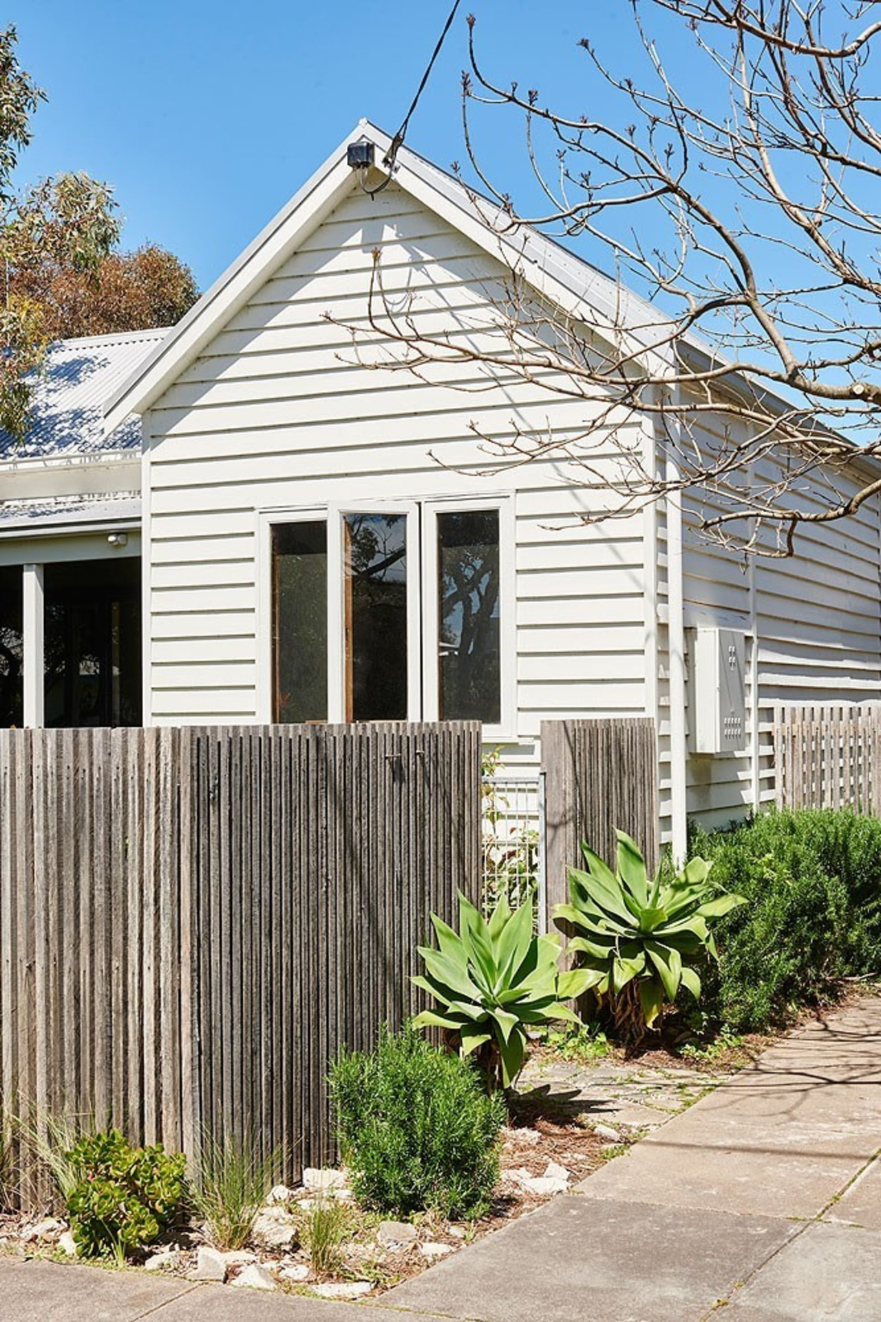 Architect: Kim Irons Photography by Nikole Ramsay cottage, facade, farmhouse, home, house, neighbourhood, outdoor structure, picket fence, property, real estate, residential area, shed, siding, window, yard, white