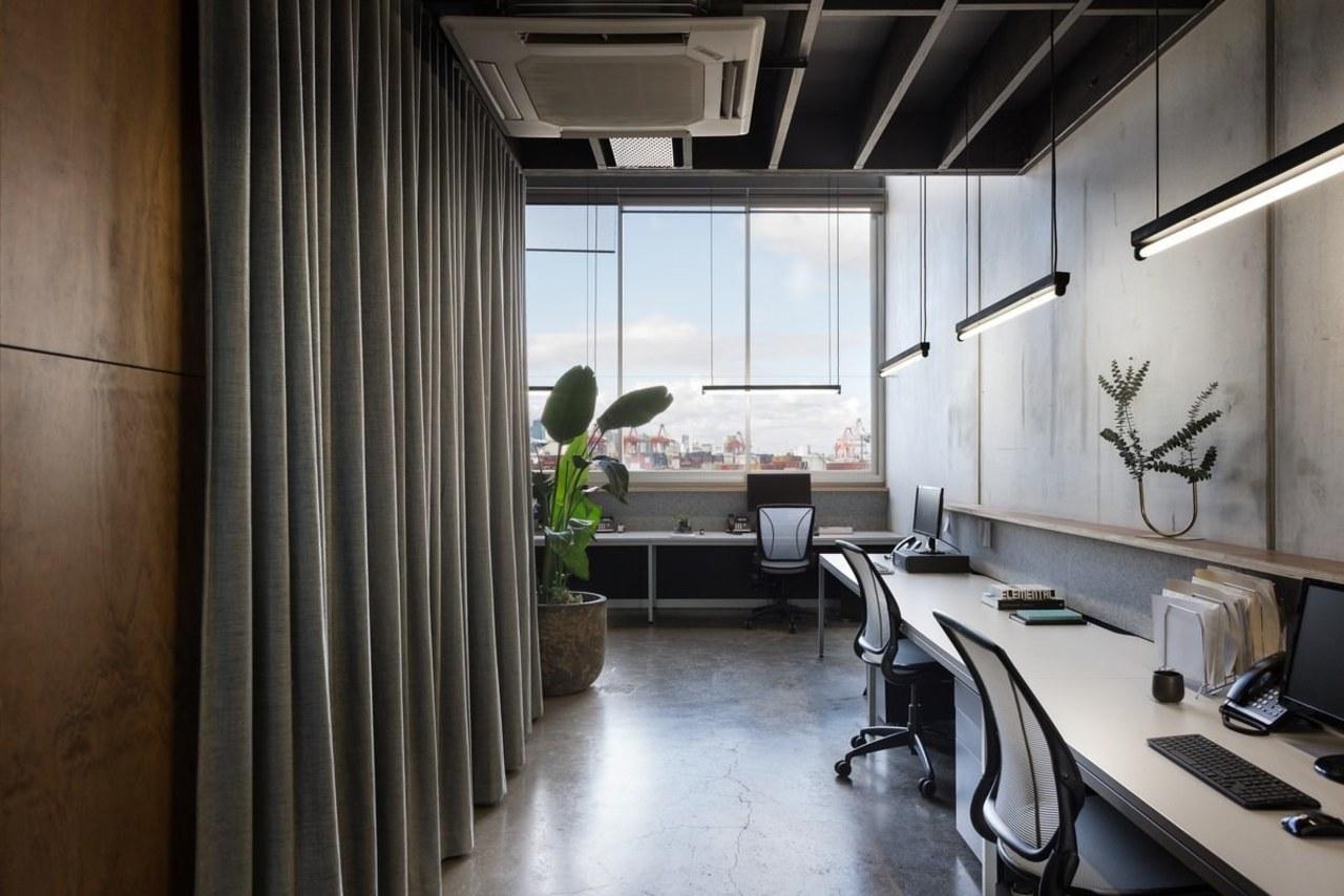 Norton Legal architecture, interior design, office, gray, black