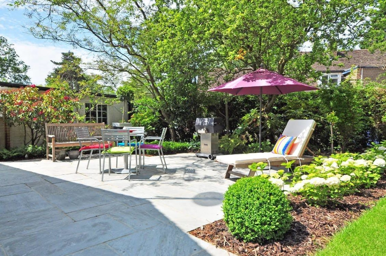 Want to spruce up your backyard? backyard, courtyard, estate, garden, home, landscape, landscaping, neighbourhood, outdoor furniture, outdoor structure, patio, property, real estate, walkway, yard, green