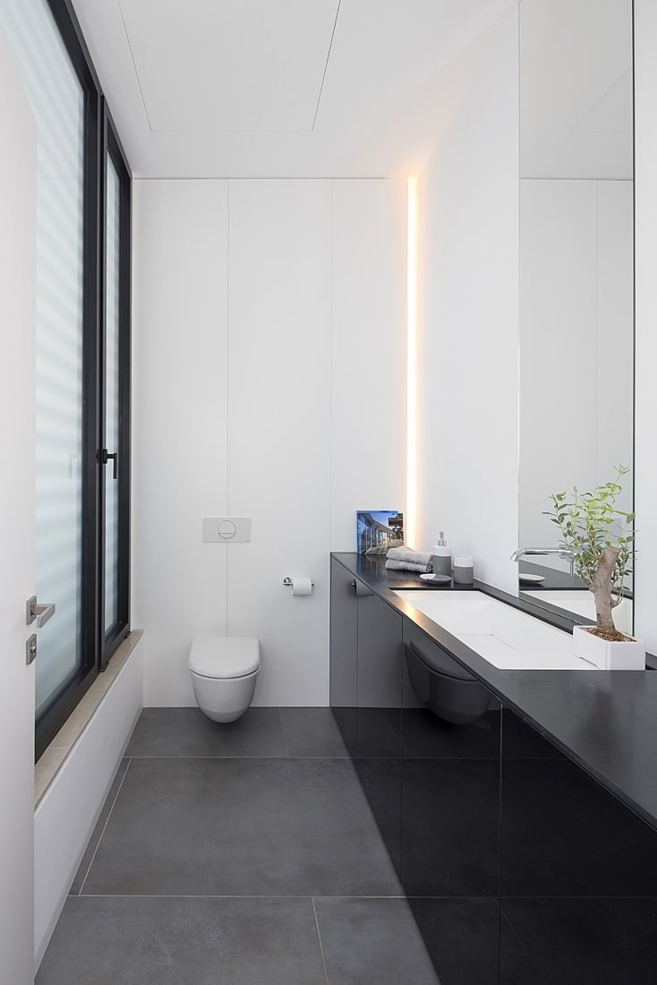 Architect: Shachar-Rozenfeld architectsPhotography by Shai Epstein architecture, bathroom, daylighting, floor, house, interior design, product design, room, sink, white