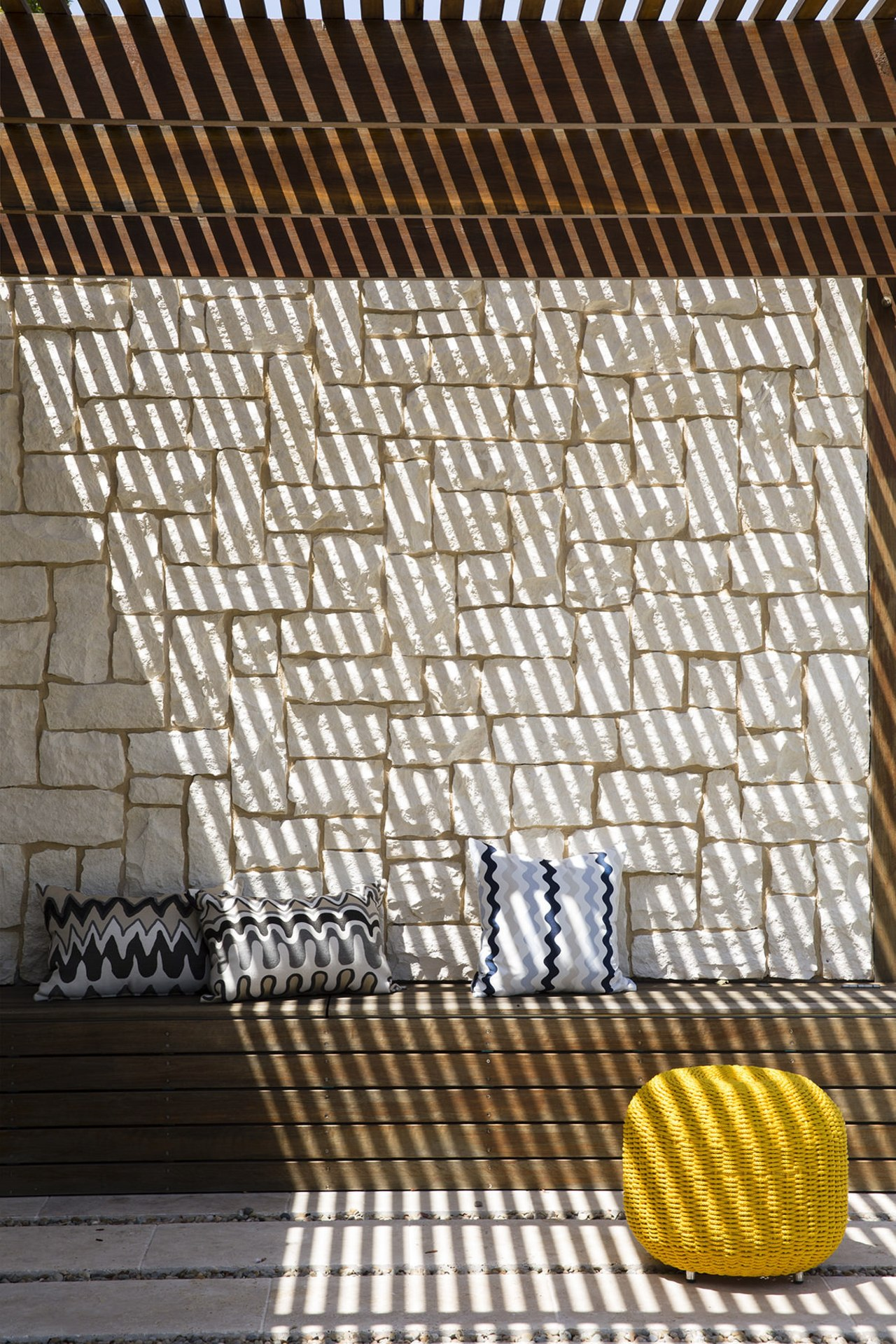 Accessorising helps your outdoor room become even more line, material, mesh, metal, net, pattern, gray