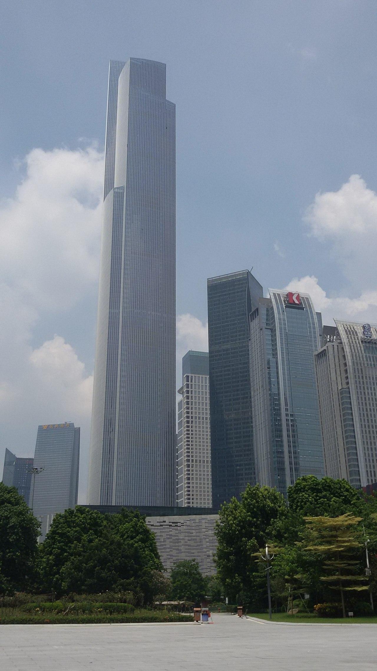 3. Guangzhou CTF Finance Centre – 530 m architecture, building, city, cloud, condominium, corporate headquarters, daytime, downtown, landmark, metropolis, metropolitan area, sky, skyline, skyscraper, tower, tower block, urban area, gray