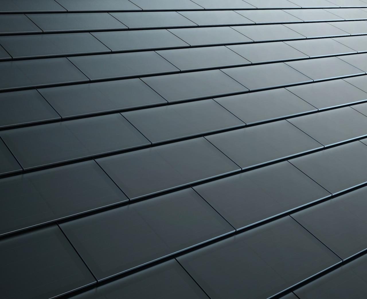 Tesla Solar Roof tiles angle, daylighting, floor, light, line, material, road surface, sky, texture, wood, gray, black