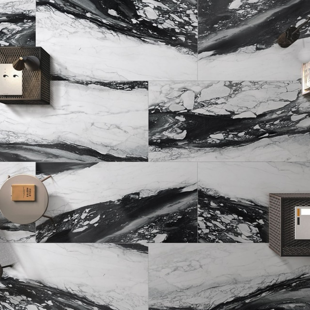 False tiles can give off an innovative black and white, snow, wall, winter, gray, black