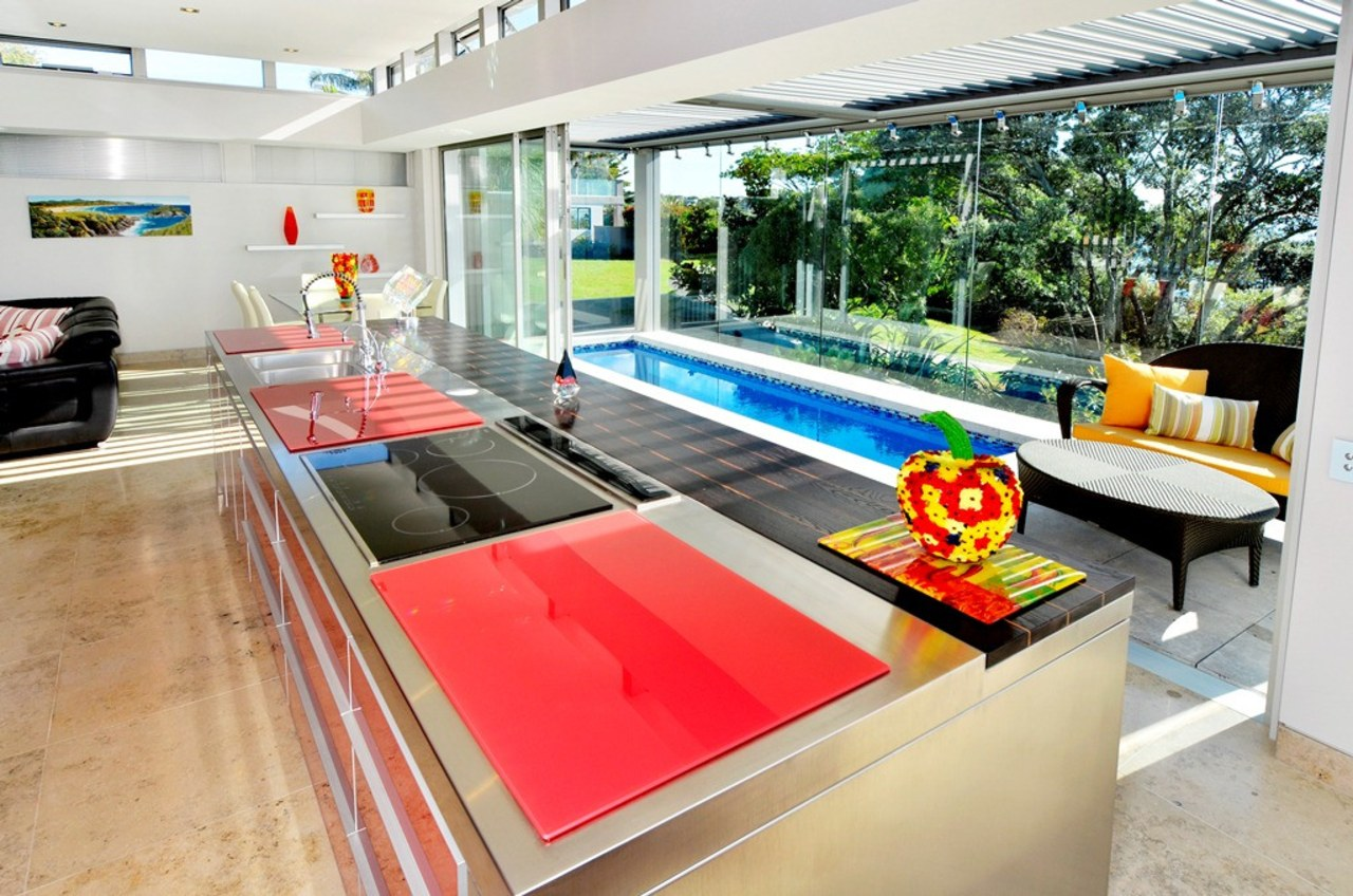 Set and control your outdoor living conditions with interior design, real estate, table, white