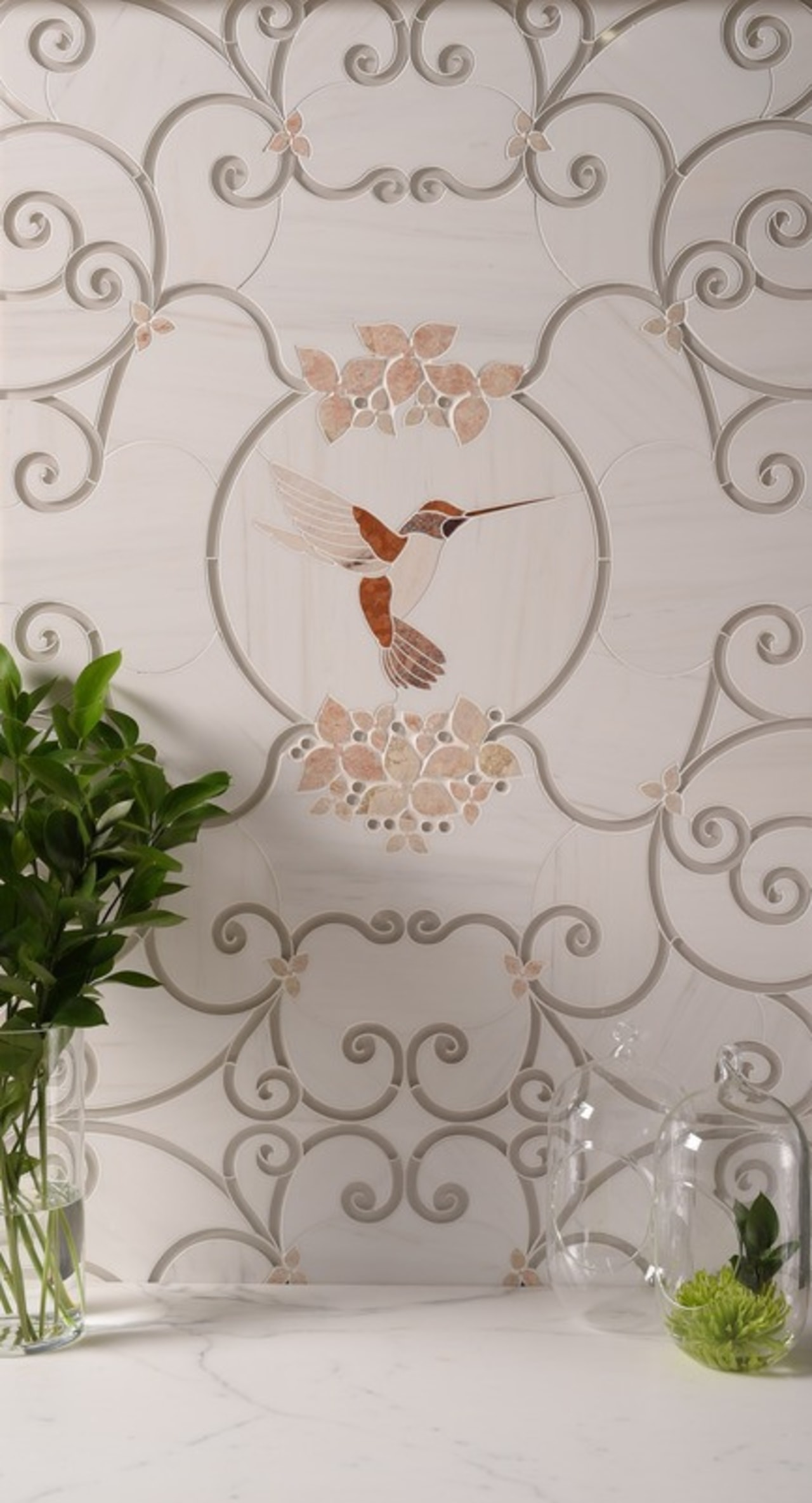 Cage d'Oiseaux flora, wedding ceremony supply, gray