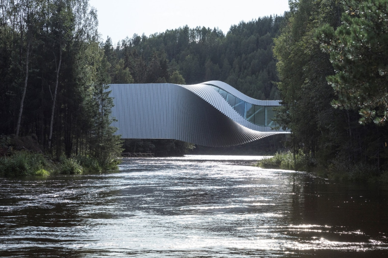 The Twist Museum – an imaginative turn for architecture, bank, lake, river, state park, tree, water, water resources, watercourse, waterway, black