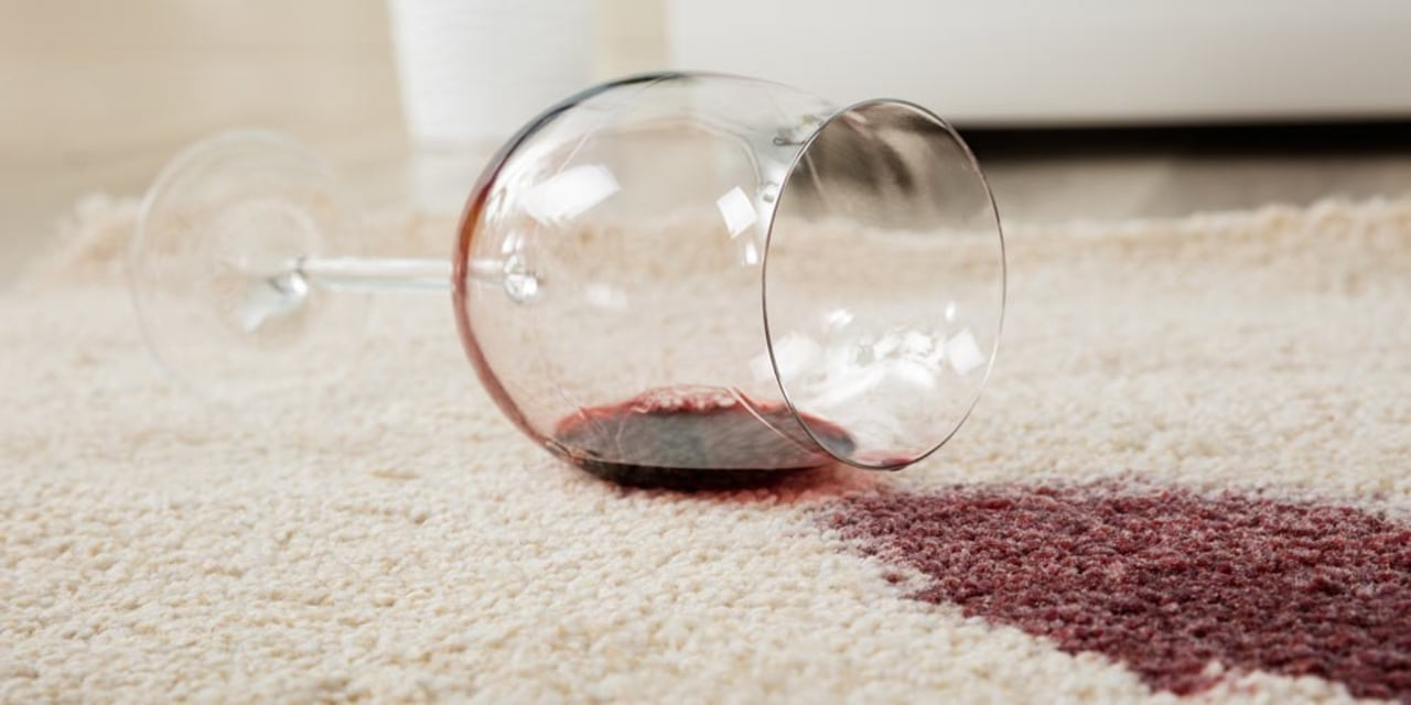 Stubborn wine stains often require multiple cleans before