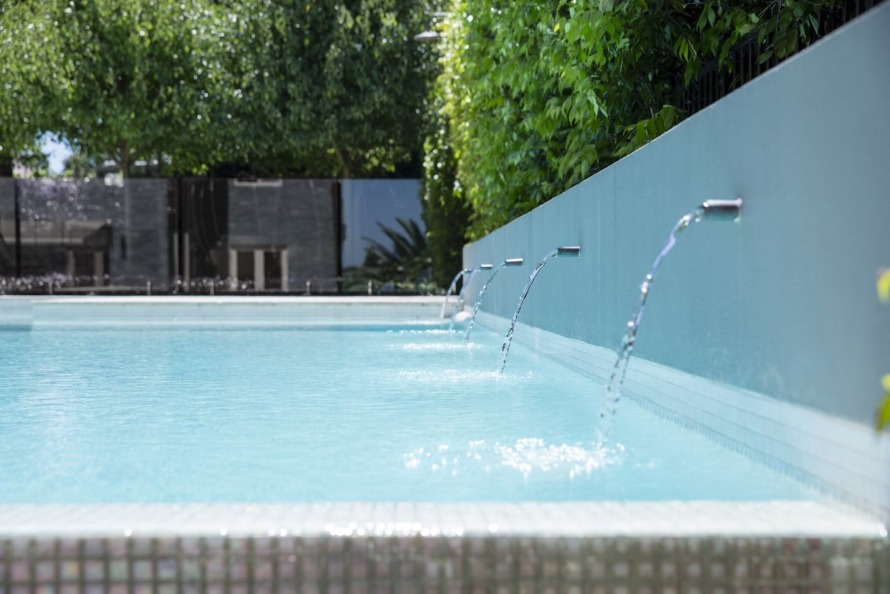 Winter Pool By Landart Landscapes. Photography: Jason Busch leisure, swimming pool, water, water feature, teal