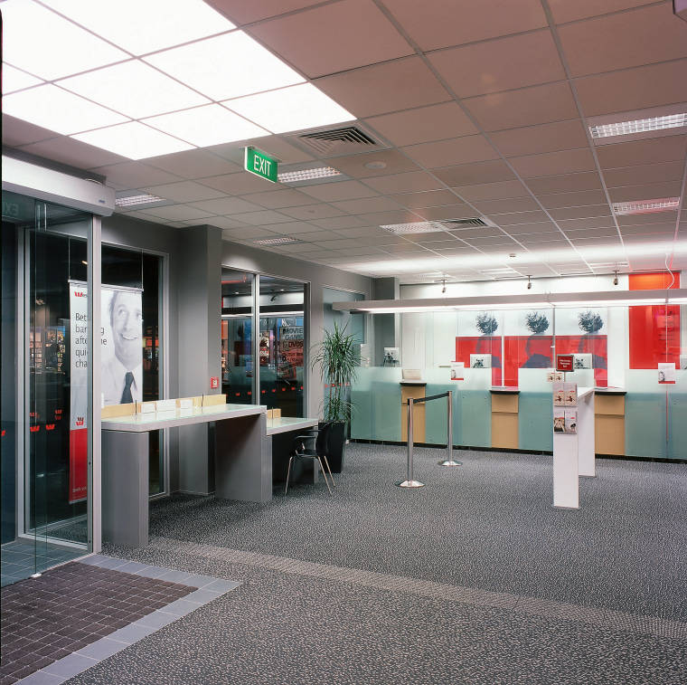 The modern interior of a new branch of ceiling, interior design, office, gray