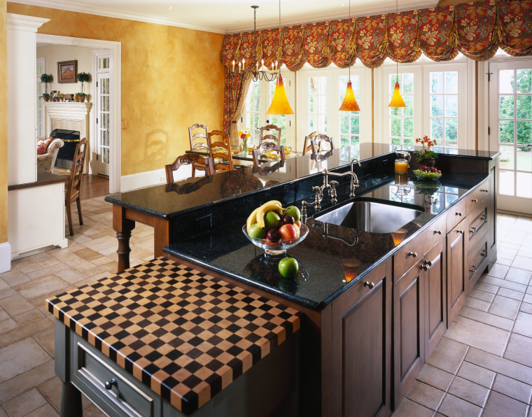 View of this traditional kitchen countertop, interior design, kitchen, real estate, white