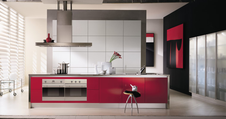 A kitchen featuring Baumatic kitchen appliances. The kitchen cabinetry, countertop, cuisine classique, furniture, interior design, interior designer, kitchen, product design, white