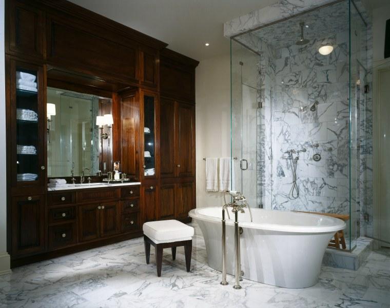 View of this bathroom bathroom, estate, home, interior design, room, gray, black