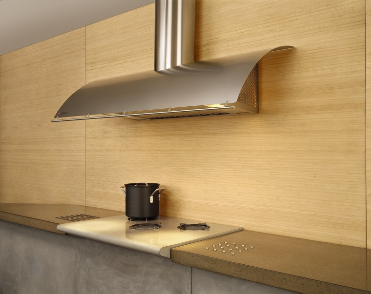 View of the rangehood angle, countertop, floor, furniture, light fixture, lighting, plywood, product design, shelf, tap, under cabinet lighting, wall, wood, orange
