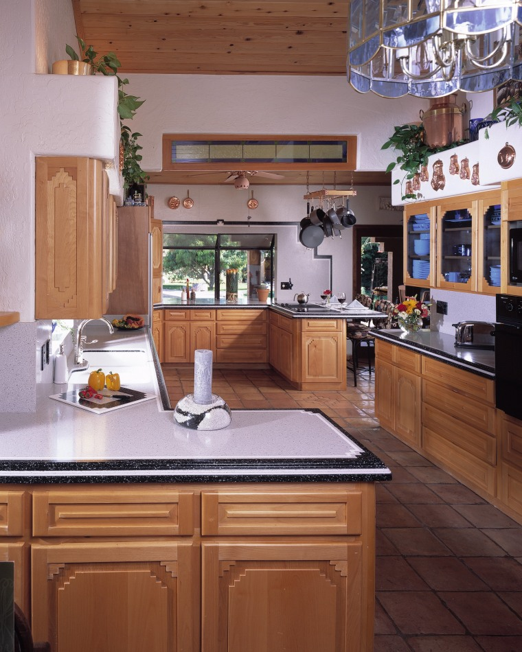 View of this traditional kitchen cabinetry, countertop, cuisine classique, home, interior design, kitchen, room, gray, brown
