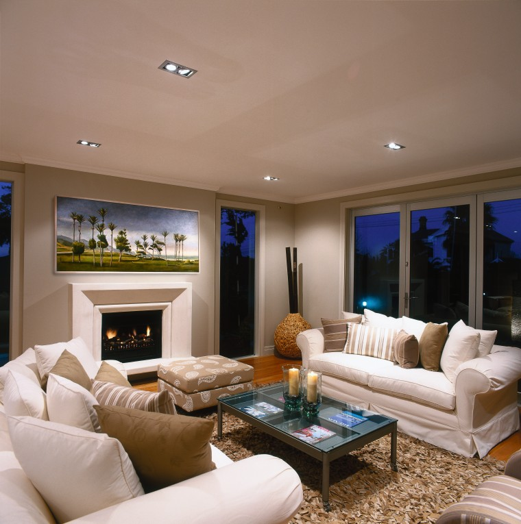 View of this living area ceiling, estate, home, interior design, living room, property, real estate, room, wall, window, brown, gray