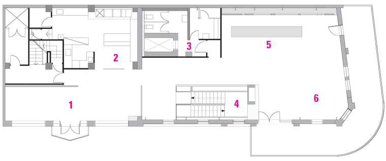 Floor plan of restaurant. architecture, area, design, diagram, drawing, floor plan, line, plan, product design, structure, white