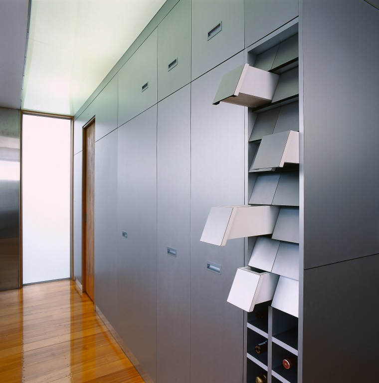 view of ktichencupboard system architecture, ceiling, daylighting, glass, interior design, shelf, wall, gray
