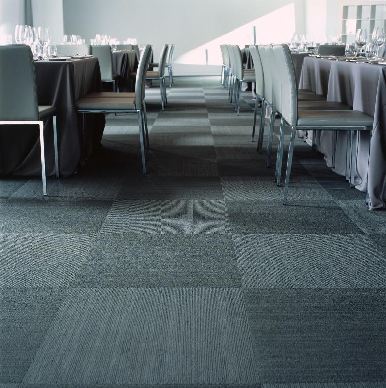 Grey toned carpet tiles laid in a chequerboard carpet, floor, flooring, interior design, laminate flooring, tile, wood flooring, gray, black
