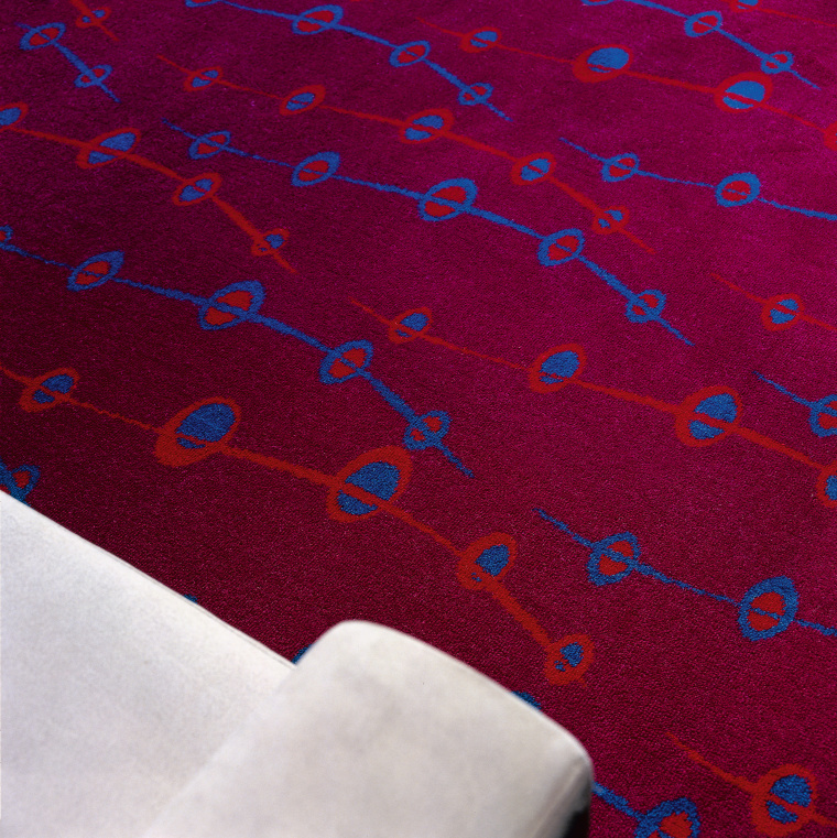 view of the maroon alchemy carpet area, blue, design, line, magenta, pattern, purple, red, textile, red
