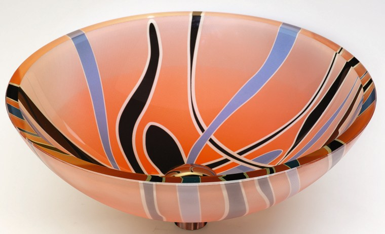 view of the colourful basin bowl, ceramic, orange, product design, tableware, white, orange