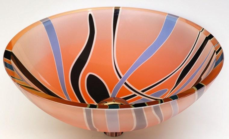 view of the colourful basin - view of bowl, ceramic, orange, product design, tableware, white, orange