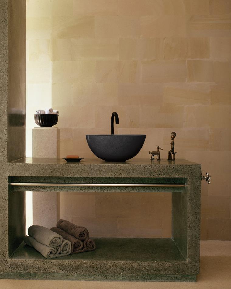 view of the stone/terrazzo bathroom vanity and basin bathroom, bathroom sink, ceramic, floor, flooring, interior design, plumbing fixture, product design, sink, tap, tile, wall, brown