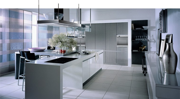 A view of a kitchen, grey tiled floor, countertop, cuisine classique, home appliance, interior design, kitchen, product design, gray