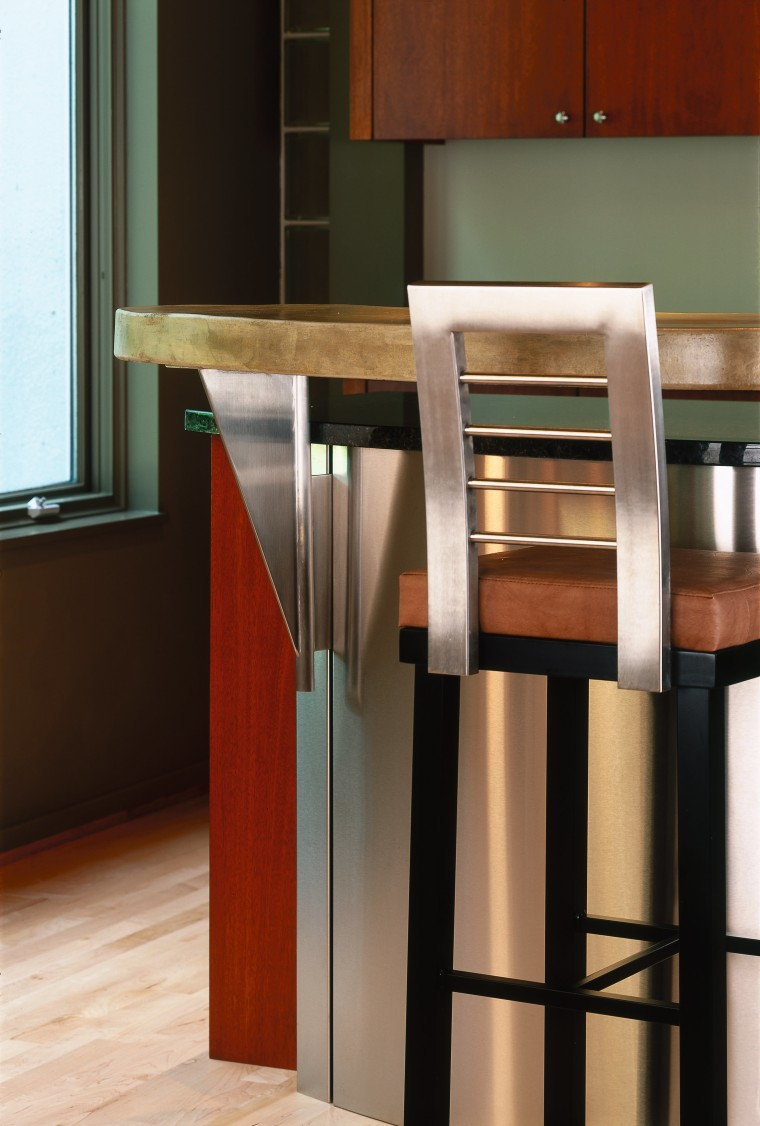 A close up view of one of the countertop, floor, furniture, hardwood, product design, table, black