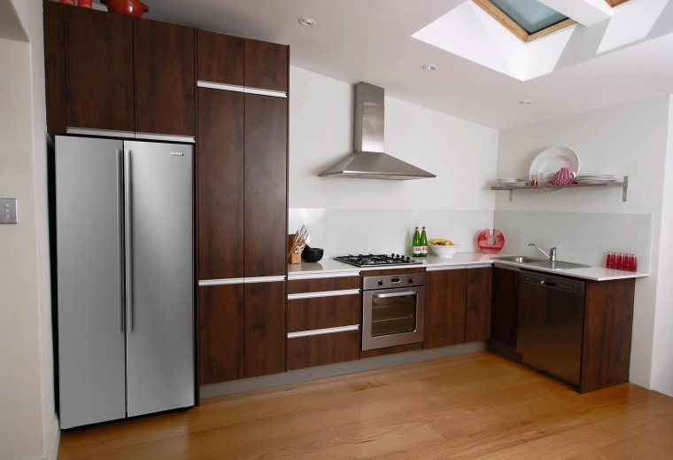 An example of the wide range of easy cabinetry, countertop, cuisine classique, floor, hardwood, home appliance, interior design, kitchen, property, real estate, room, gray, brown