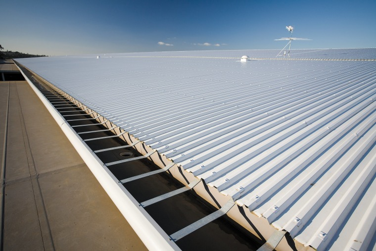A view of the Dimond roofing. daylighting, energy, fixed link, line, roof, sea, sky, structure, sunlight, water, gray