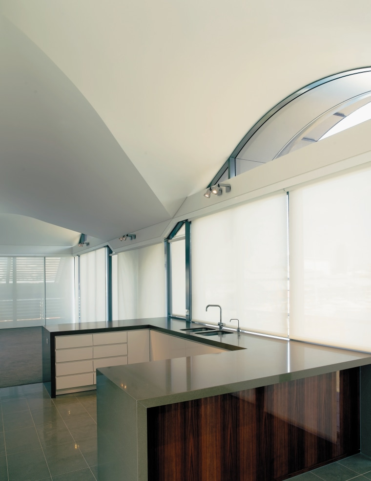A view of some curved ceilings by Builup architecture, ceiling, daylighting, glass, house, interior design, product design, real estate, white, gray