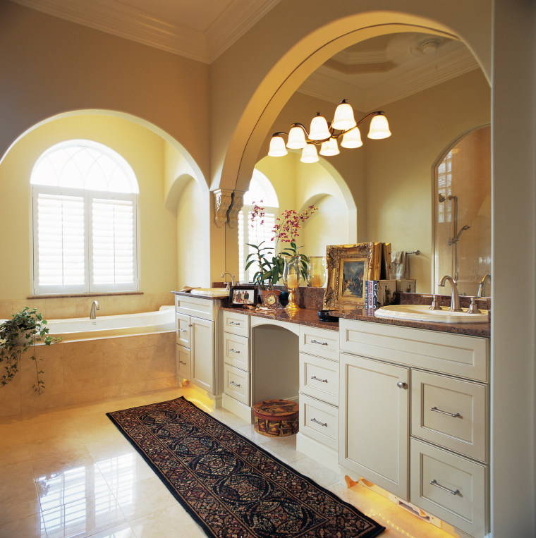 view of the bathroom featuring ARA timber cabinetry cabinetry, ceiling, countertop, cuisine classique, home, interior design, kitchen, real estate, room, window, brown, white
