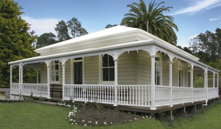 Country lodge painted in Resene shades canopy, cottage, estate, farmhouse, home, house, porch, real estate, siding, brown