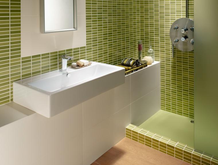 A large selection of tiles is on display bathroom, bathroom accessory, bathroom cabinet, floor, interior design, plumbing fixture, product design, room, sink, tap, tile, brown