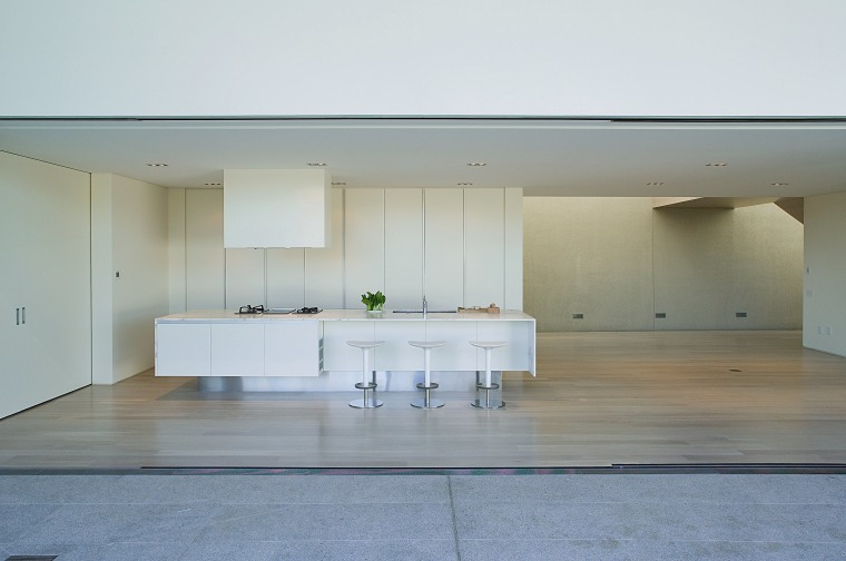 A view of these award winning kitchens  architecture, daylighting, floor, house, interior design, product design, table, gray, white
