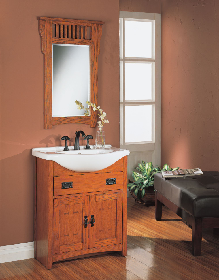 A view of some bathroom vanities by Fairmont bathroom, bathroom accessory, bathroom cabinet, cabinetry, hardwood, interior design, plumbing fixture, room, sink, red