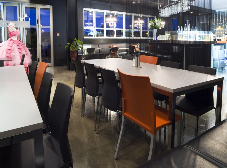 Cafe Tables Orange and grey chairs and tables chair, furniture, interior design, restaurant, table, black