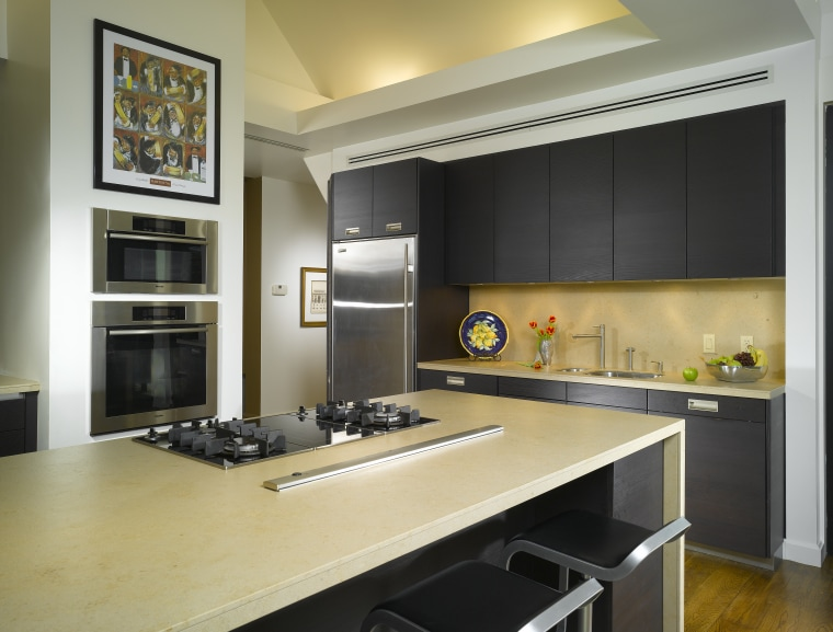 View of remodelled kitchen by SieMatic Atlanta. cabinetry, countertop, cuisine classique, interior design, kitchen, black, orange