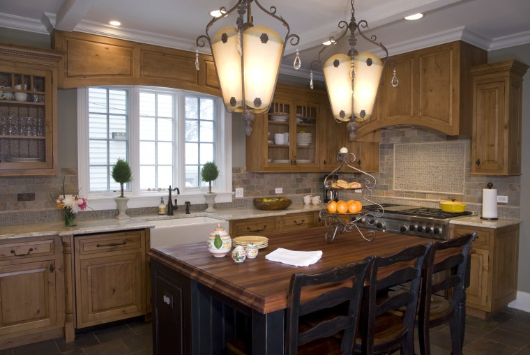 Antique cabinetry wood and slate kitchen, with kitchen cabinetry, ceiling, countertop, cuisine classique, home, interior design, kitchen, room, brown, gray