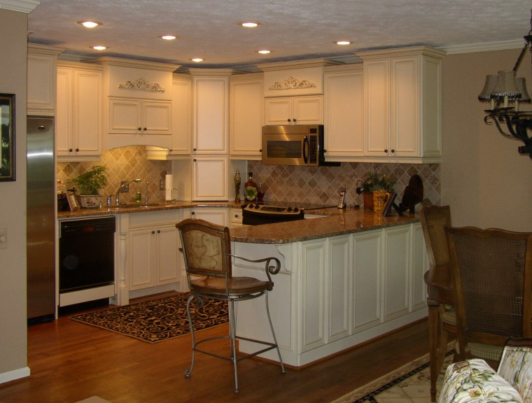 White kitchen with timber benchtops and floors cabinetry, countertop, cuisine classique, flooring, interior design, kitchen, room, under cabinet lighting, brown