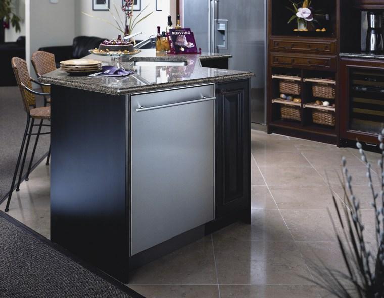 View of Asko appliance dishwashers. cabinetry, countertop, floor, flooring, furniture, hardwood, home appliance, kitchen, kitchen appliance, major appliance, gray, black