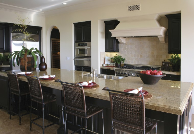 PermaShield by Innovative Stone can protect natural stone countertop, dining room, interior design, kitchen, real estate, black, gray