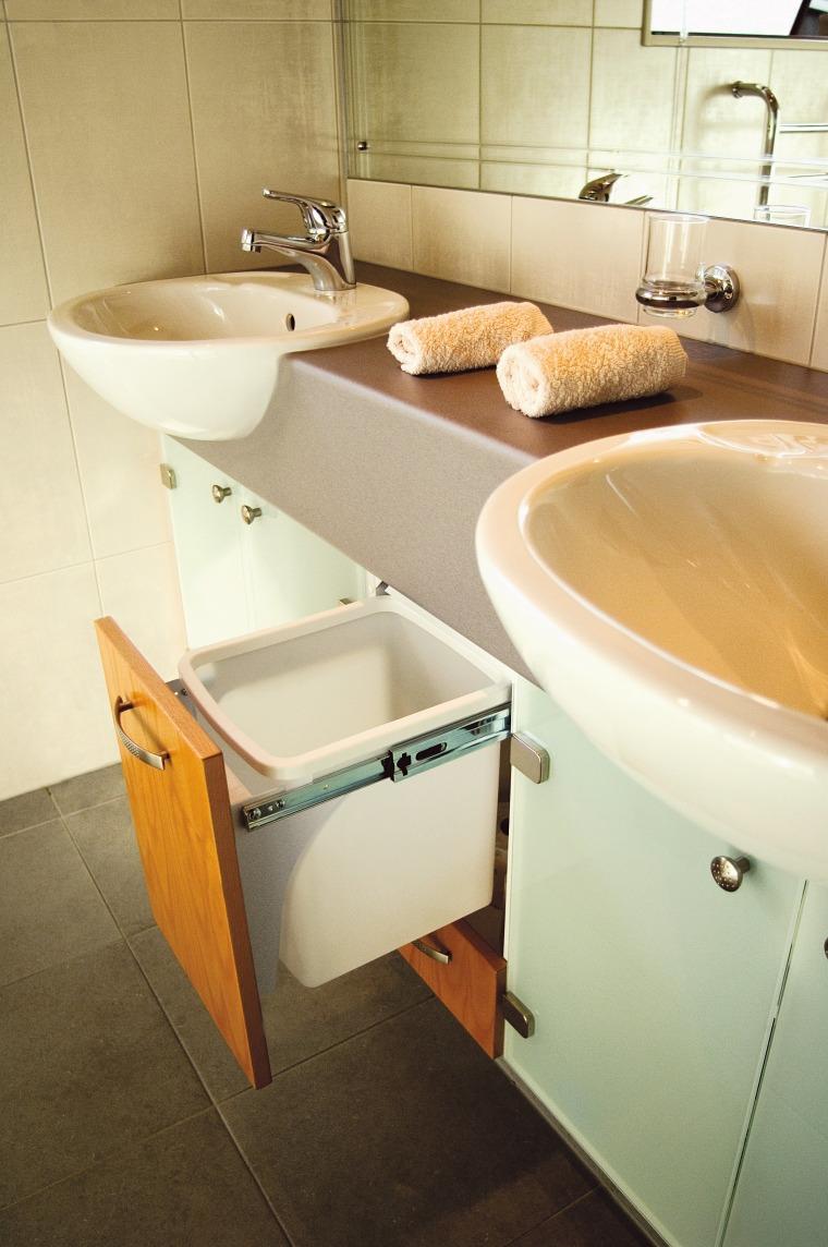 View of hideaway bins from Kitchen King. bathroom, bathroom accessory, floor, interior design, plumbing fixture, product design, property, room, sink, tap, toilet, toilet seat, orange