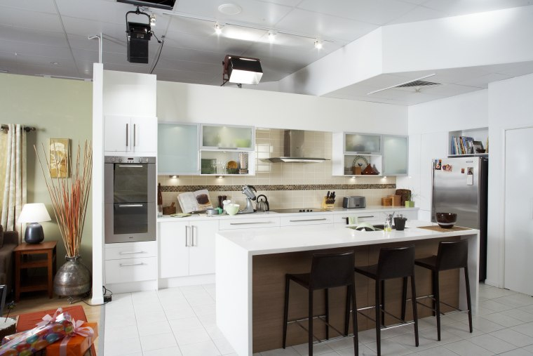 View of a kitchen designed by designers at cabinetry, countertop, cuisine classique, interior design, kitchen, room, white, gray