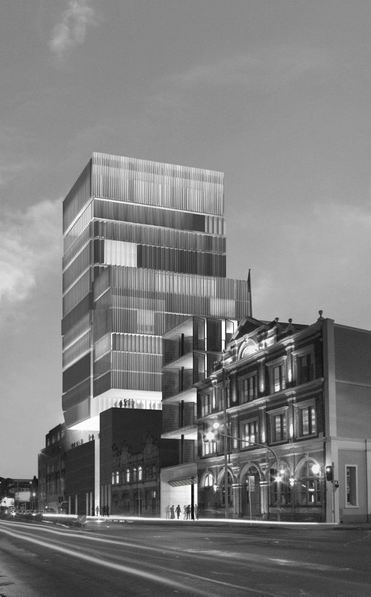 image of conceptual drawings for the latest mixed-use apartment, architecture, black and white, brutalist architecture, building, city, commercial building, condominium, corporate headquarters, daytime, downtown, facade, headquarters, house, infrastructure, metropolis, metropolitan area, mixed use, monochrome, monochrome photography, residential area, sky, tower block, urban area, gray, black