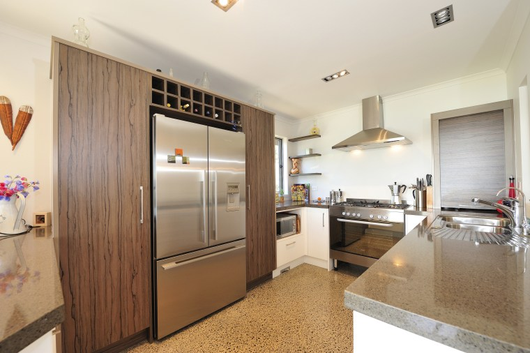 View of the kitchen in this home built cabinetry, countertop, cuisine classique, interior design, kitchen, property, real estate, room, white, brown