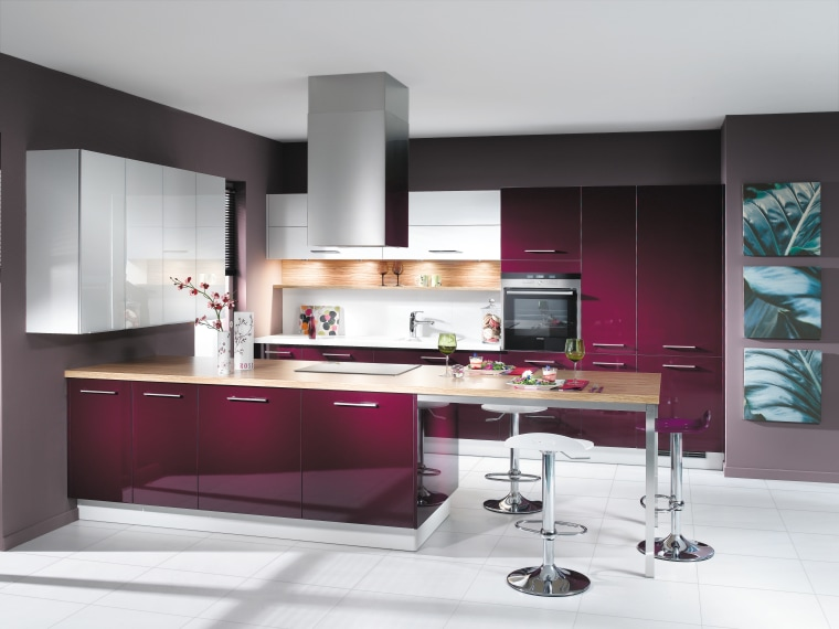 Good taste  Bold, daring designs emphasising vibrant cabinetry, countertop, cuisine classique, furniture, interior design, interior designer, kitchen, product design, white