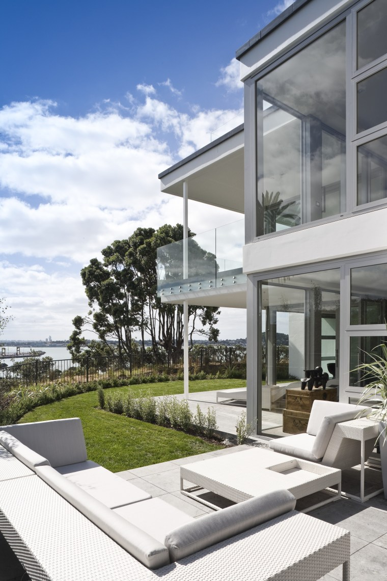 View of a large apartment development in Auckland apartment, architecture, building, condominium, estate, home, house, mixed use, outdoor furniture, property, real estate, residential area, sunlounger, white, gray