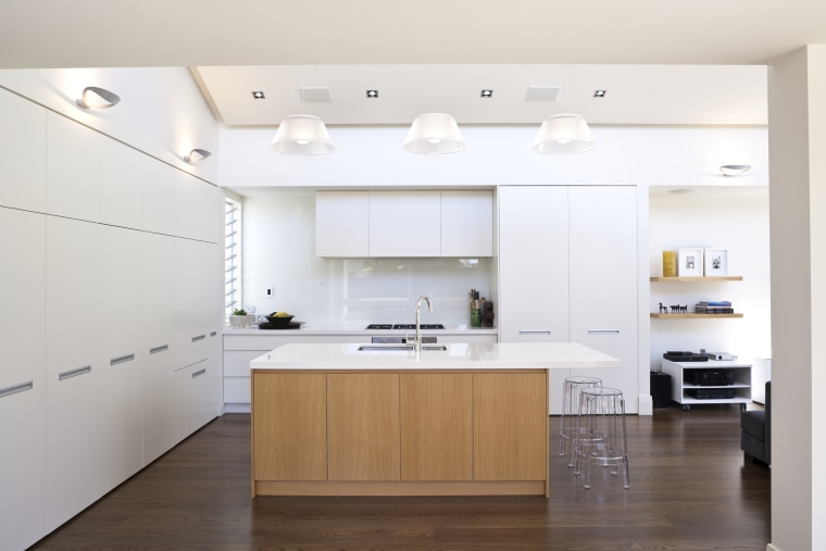 A kitchen interior designed by Anna Welsh MDINZ, cabinetry, countertop, cuisine classique, floor, interior design, kitchen, product design, room, white